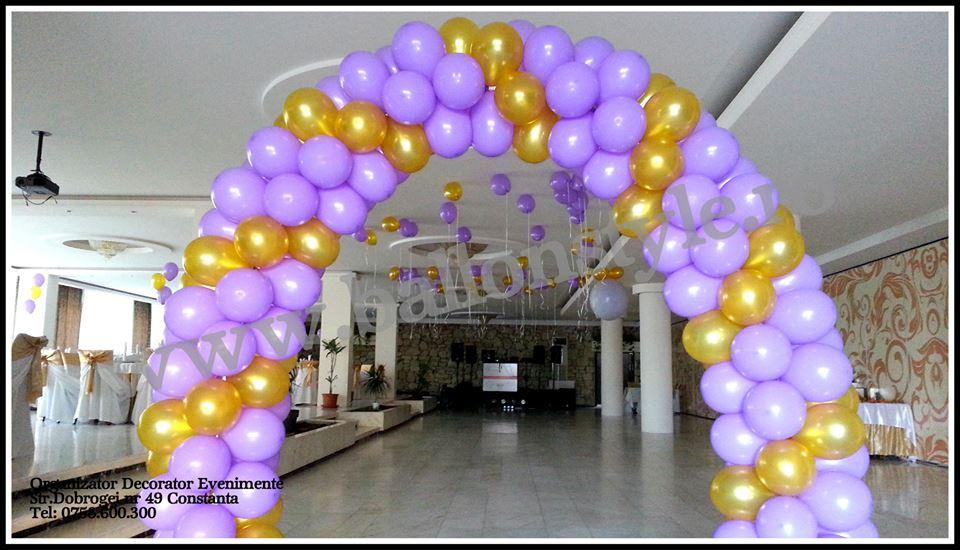 Arcada Baloane Decoratiuni Nunta Botez Evenimente Artificii Fum